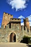 Fenis kasztel, Włoski średniowieczny kasztel Fotografia Royalty Free