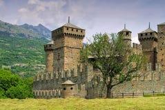 Fenis kasztel w Aosta dolinie Zdjęcie Royalty Free