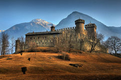 Fenis Schloss Lizenzfreie Stockfotos