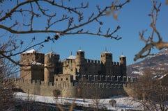 Fenis Schloss - Aosta - Italien Lizenzfreie Stockbilder