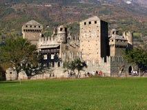 Fenis Schloss, Aosta, Italien Lizenzfreie Stockfotos