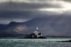 Fenit lighthouse (little Samphire island) Royalty Free Stock Images
