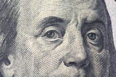 Fenjamin Franklin on a dollar bill close-up Stock Photo