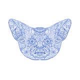 Fenka Fox głowy mandala Fotografia Stock