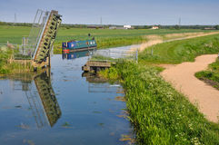 Fenland in Cambridgeshire, England. The fens in East Anglia are a marshy region, artifically drained and transformed into arable farming areas. Today in fenland Royalty Free Stock Photos