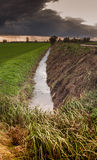 Fenland drainage channel Stock Photo