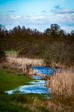 Fenland drainage channel early morning Stock Photography