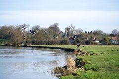 Fenn Ditton, Cambridgeshire, Ditton-Wiesen Lizenzfreies Stockfoto
