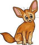 Fennec fox animal cartoon illustration Stock Photo