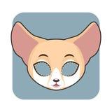 Fennec Fox mask for festivities Stock Photo