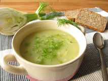 Fennel cream soup Stock Photography