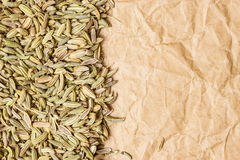Fennel dill seeds border frame Royalty Free Stock Photos