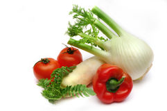 Fennel, radish, paprika and tomatoes Royalty Free Stock Photos