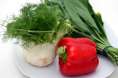 Fennel, ramson and paprika Royalty Free Stock Image