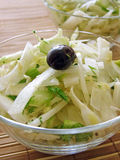 Fennel salad with olive oil Stock Photos