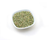 Fennel seeds. Natural purity pellow Poppy Seeds isolated on white Stock Photo