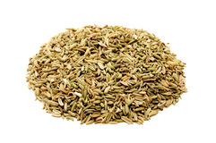 Fennel seeds. On a white background Stock Photo