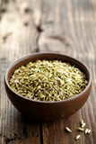 Fennel seeds. In a bowl Royalty Free Stock Images