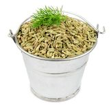 Fennel seeds in a bucket Royalty Free Stock Photography