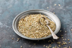 Fennel seeds on dark background Royalty Free Stock Photography