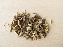 Fennel seeds, Foeniculi fructus. In herbalism Royalty Free Stock Image