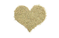 Fennel seeds in a heart shape Stock Images