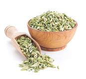 Fennel seeds isolated on white. Background Stock Photos