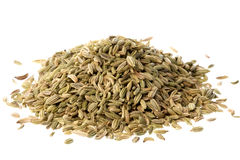 Fennel Seeds Macro Isolated Royalty Free Stock Photo