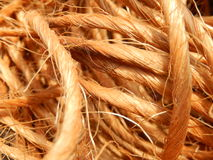 Feno & Straw Bailing Twine Background Image imagem de stock