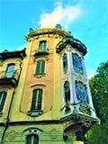 Fenoglio - style de Chambre et d'Art Nouveau de Lafleur dans la ville de Turin, Italie images libres de droits