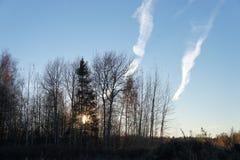 Fenomeni naturali, osservati nella regione di Mosca Fotografia Stock