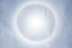 Fenomeno di alone di Sun Fotografie Stock Libere da Diritti