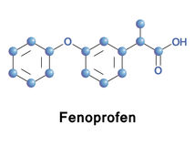 Fenoprofen NSAID vector Royalty Free Stock Image