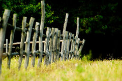 Fens. Very old wooden fence, a fence for animals Stock Photo