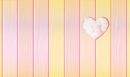 Fense with heart. Cute heart in  yellow fence Stock Image