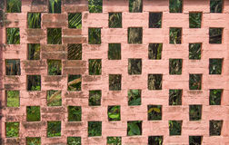 Fense made from brick. Old fense made from brick Royalty Free Stock Photo