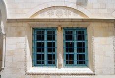 Fenster Abuhav-Synagoge in Safed Lizenzfreie Stockfotografie