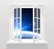 Fenster in anderer Galaxie vektor abbildung