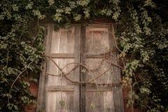 Fenster auf alter Wand Lizenzfreies Stockfoto