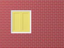 Fenster auf Backsteinmauer lizenzfreie abbildung