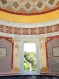 Fenster auf botanischen Garten Palermos Stockfotos