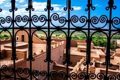 Fenster auf dem Kasbah Stockfotos