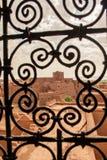 Fenster auf dem Kasbah Lizenzfreies Stockbild