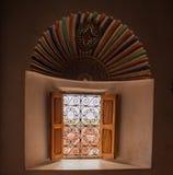 Fenster auf dem Kasbah Lizenzfreie Stockfotos