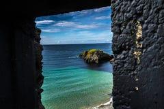 Fenster auf der Nordsee lizenzfreies stockfoto