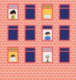Fenster auf der Wand Fenster Lizenzfreie Stockfotografie