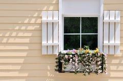 Fenster auf farbiger Architektur Stockfotografie