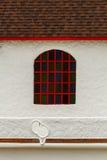 Fenster auf Wand Stockbild