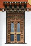 Fenster - buddhistischer Tempel - Bhutan Lizenzfreie Stockfotografie