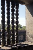 Fenster colonettes an des 12. Jahrhunderts Tempel Ankgor Wat stockbild